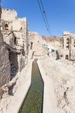Aflaj systemy irygacyjni w Omani wiosce Zdjęcie Stock