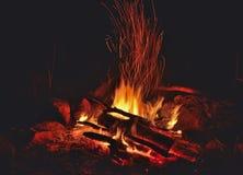 Aflame ognisko 5 zdjęcie stock