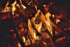 Aflame wood 16 Royalty Free Stock Image