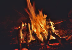 Aflame wood 10 Stock Photo