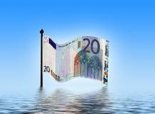 Aflicciones euro Foto de archivo libre de regalías