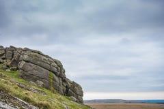 Afloramento de Dartmoor do granito Fotografia de Stock