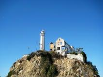 Afloramento de rocha na ilha de Alcatraz Califórnia, EUA Fotografia de Stock Royalty Free