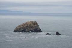 Afloramiento de roca, costa de California Fotos de archivo libres de regalías
