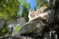 Afloramientos de la piedra arenisca Imagen de archivo