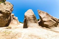 Afloramientos de roca de la piedra pómez Bata de Kuthin, reserva de Kronotsky, península de Kamchatka imagenes de archivo