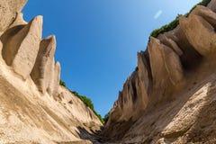 Afloramientos de roca de la piedra pómez Bata de Kuthin, reserva de Kronotsky, península de Kamchatka imágenes de archivo libres de regalías