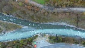 Afluência do rio, Geórgia, aéreo video estoque