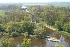 Afluência dos rios Vltava e Labe Foto de Stock