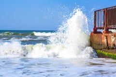 Afluencia del mar Imagen de archivo libre de regalías