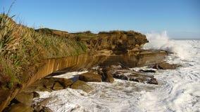 Afluencia, mar de Tasman, Nueva Zelandia Foto de archivo libre de regalías