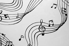 Aflutter av musikaliska ackord En illustration Royaltyfria Bilder