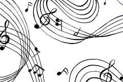 Aflutter av musikaliska ackord En illustration Royaltyfri Foto