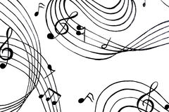 Aflutter of musical chords. A  illustration. Royalty Free Stock Photo