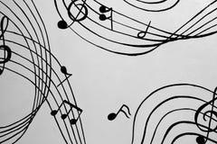 Aflutter von den musikalischen Akkorden Eine Illustration Stockfotografie