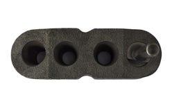 Afmeting van gateninspectie van een ijzer gietend deel stock afbeelding
