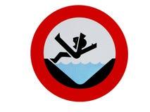 Afogamento do sinal do perigo Fotos de Stock