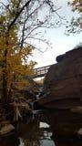 afon秋天cwm风险秋天图象llan长的路径snowdon威尔士瀑布watkins 免版税库存照片