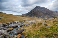 Afon Idwal i Snowdonia Royaltyfri Foto