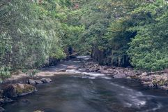 The Afon Ogwen, in Snowdonia. stock images