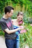 Afortunado en amor Imagen de archivo libre de regalías
