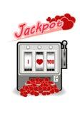 Afortunado en el juego, afortunado en el ejemplo del vector del amor Fotos de archivo libres de regalías