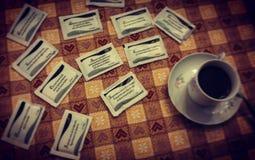 Aforystyczna kawa Fotografia Royalty Free