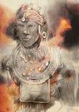 afoul Портрет - нарисованная рука, покрашенная иллюстрация бесплатная иллюстрация