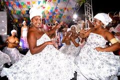 Afoxe Dancers. Afoxe Brazilian dancers in candomble party Stock Photos