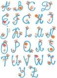 afphabet λουλούδια που τίθεντ&a ελεύθερη απεικόνιση δικαιώματος