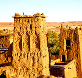 afr ica in morocco the old contruction and the historical village Stock Image