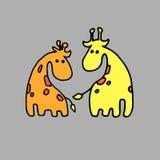 Afr mignon mammifère de girafe de vecteur de l'Afrique de safari animal d'illustration illustration libre de droits