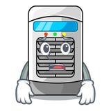 Afraid air cooler isolated with the cartoon. Vector illustation stock illustration