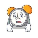 Afraid alarm clock mascot cartoon. Vector illustration royalty free illustration