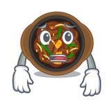 Afraid bulgogi in the a cartoon shape. Vector illustration royalty free illustration