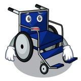 Afraid cartoon wheelchair in a hospital room. Vector illustration vector illustration