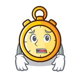 Afraid chronometer character cartoon style Stock Photography