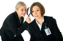 Afraid Employee Under Investigation Royalty Free Stock Photos