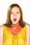 Afraid Expression Stock Photo