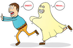 Afraid of ghost Stock Image