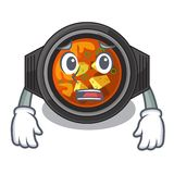 Afraid kimchi tighe in the cartoon shape. Vector illustration vector illustration