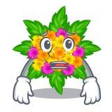 Afraid lantana flowers in the cartoon shape. Vector illustration royalty free illustration
