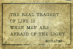 Afraid of light Socrates Royalty Free Stock Images