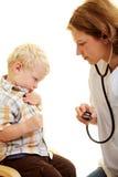 Afraid of the pediatrist Royalty Free Stock Photo