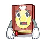 Afraid recipe book in the cartoon shape. Vector illustration vector illustration