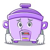 Afraid rice cooker character cartoon Royalty Free Stock Photography