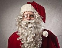 Afraid Santa Claus stock image