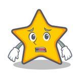 Afraid star character cartoon style. Vector illustration stock illustration