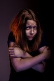Afraid teen girl Royalty Free Stock Photos