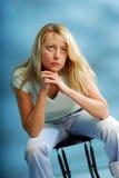 Afraid woman Stock Photos